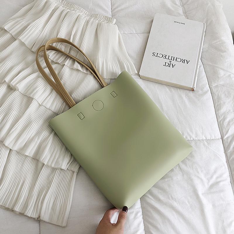 粉红色手提包 2020流行女包新款包包韩版潮流女包单肩包大容量高级感手提托特包_推荐淘宝好看的粉红色手提包