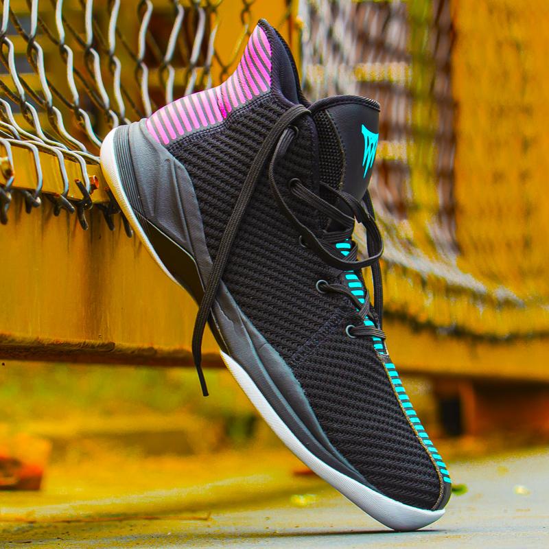 篮球鞋 沃特VOIT篮球鞋前后掌气垫实战水泥克星黑红轻便篮球鞋男_推荐淘宝好看的男篮球鞋