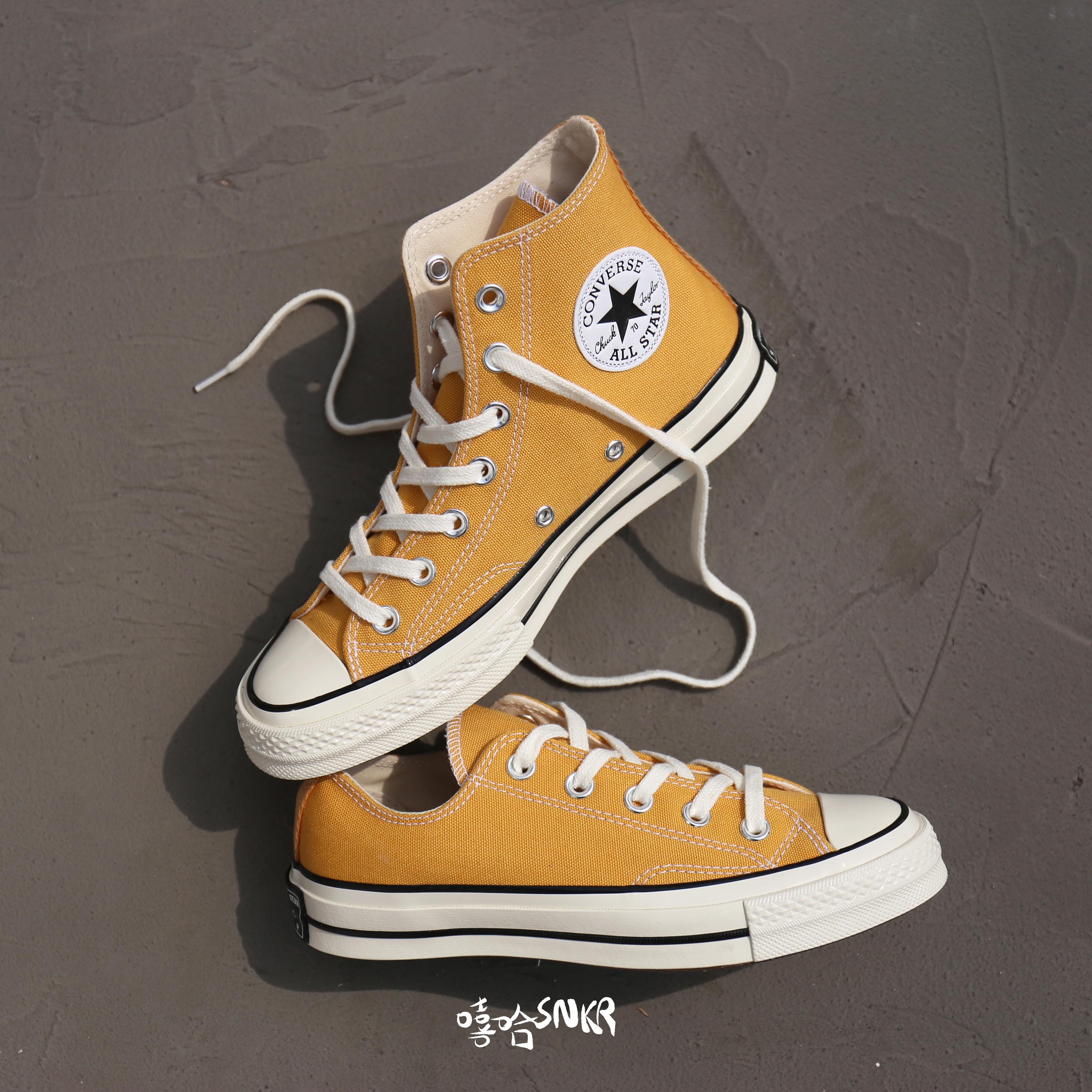 黄色帆布鞋 Converse 匡威1970s黄色高帮黄色低帮三星标帆布鞋159189c162054c_推荐淘宝好看的黄色帆布鞋