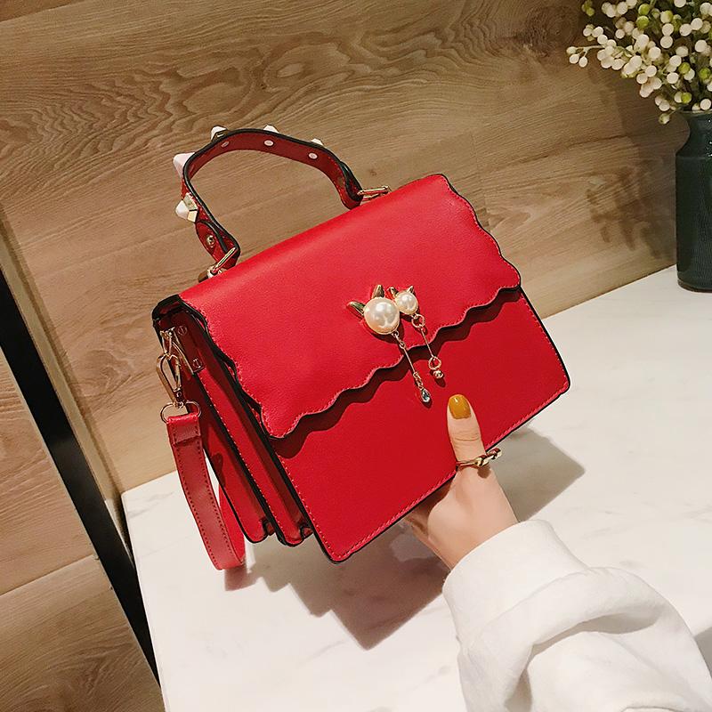 红色手提包 红色新娘结婚包包女2021年新款夏季时尚用大气大容量婚礼手提小众_推荐淘宝好看的红色手提包