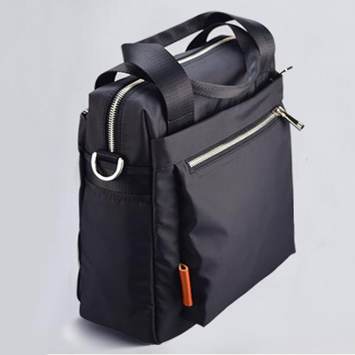 黑色手提包 WANGYEFU男士手提单肩包公文包牛津纺竖款简约复古商务休闲英伦_推荐淘宝好看的黑色手提包