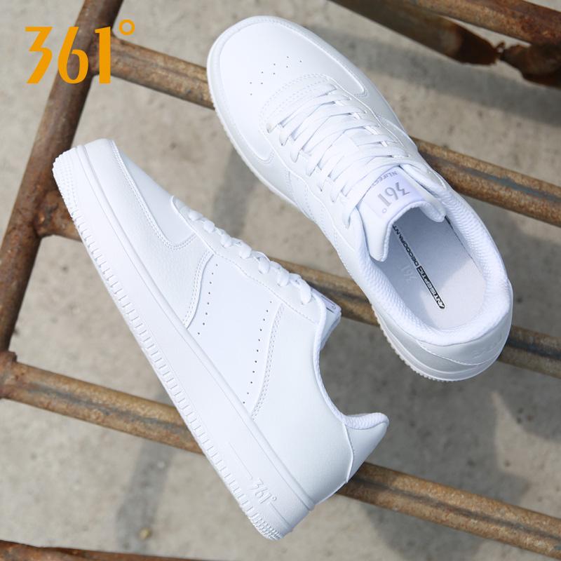 361度运动鞋 361女鞋板鞋小白鞋夏季2021新款樱花361度空军一号白鞋潮鞋运动鞋_推荐淘宝好看的女361度运动鞋
