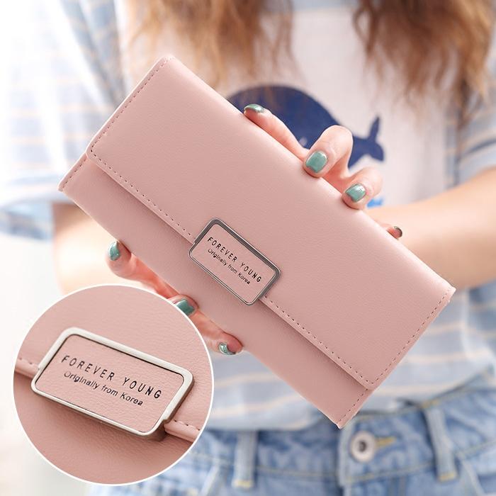 粉红色手拿包 2020新款韩版女士钱夹原创简约ins学生时尚日系手拿纯色长款钱包_推荐淘宝好看的粉红色手拿包
