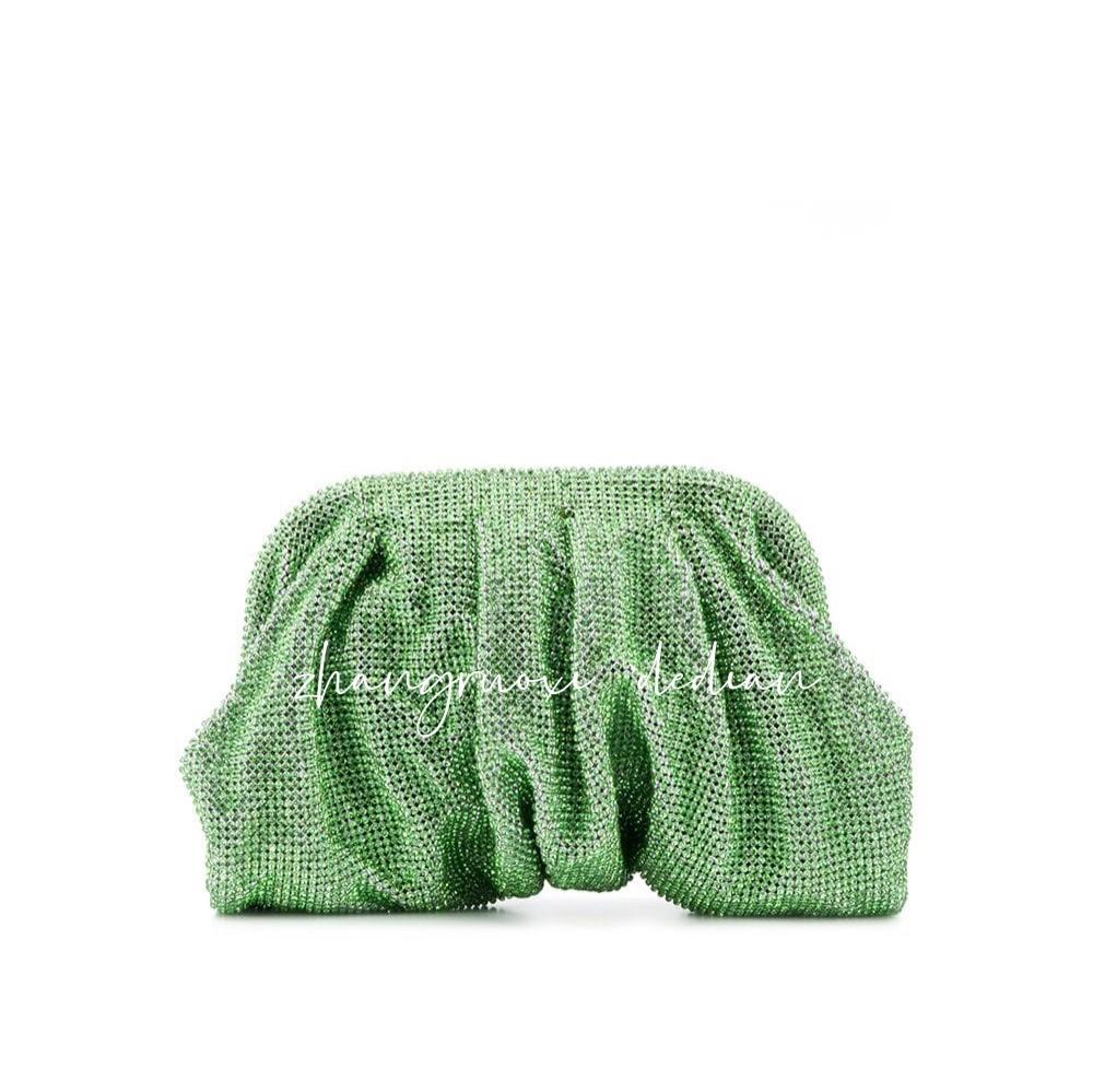 绿色手拿包 20秋冬Benedetta Burzziches 绿色水晶云朵手拿包 女士包_推荐淘宝好看的绿色手拿包
