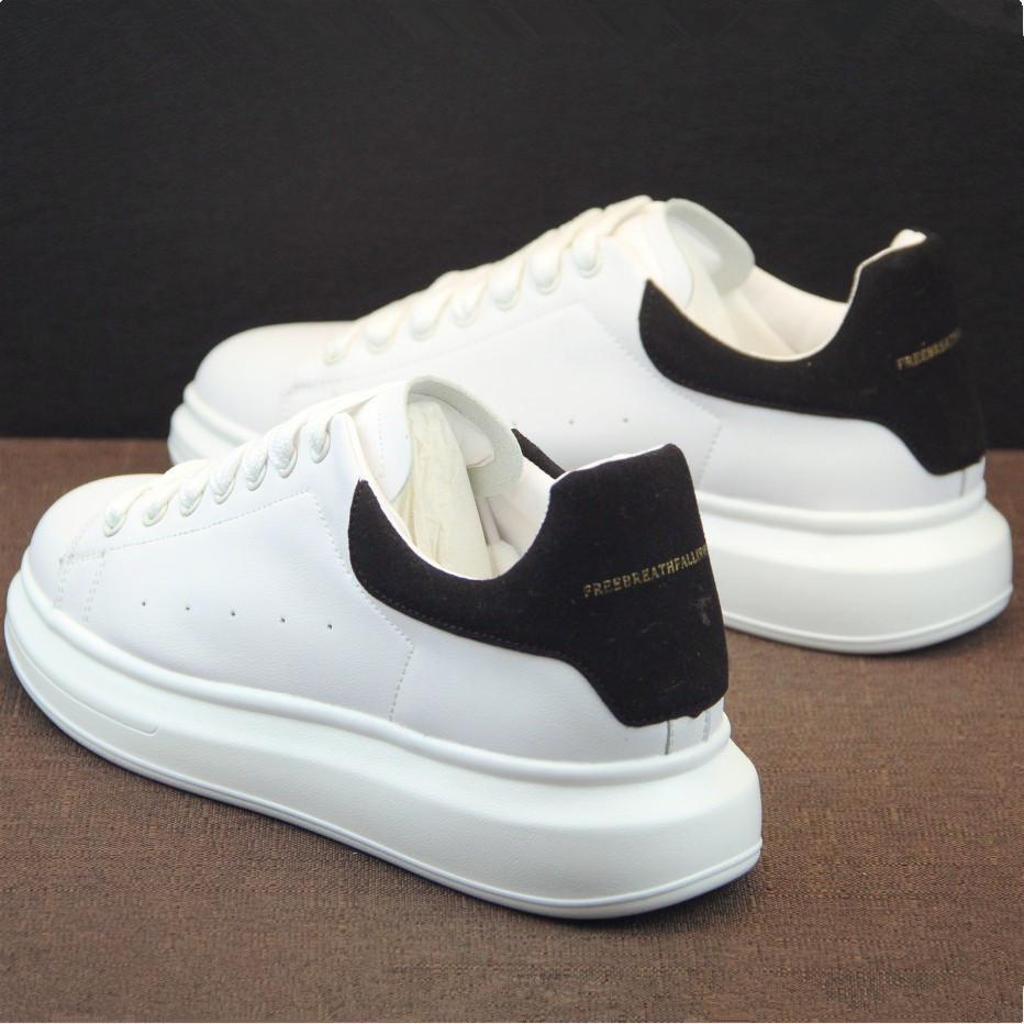 白色厚底鞋 小白鞋男鞋子厚底内增高情侣运动鞋韩版潮流白色板鞋男士休闲白鞋_推荐淘宝好看的白色厚底鞋