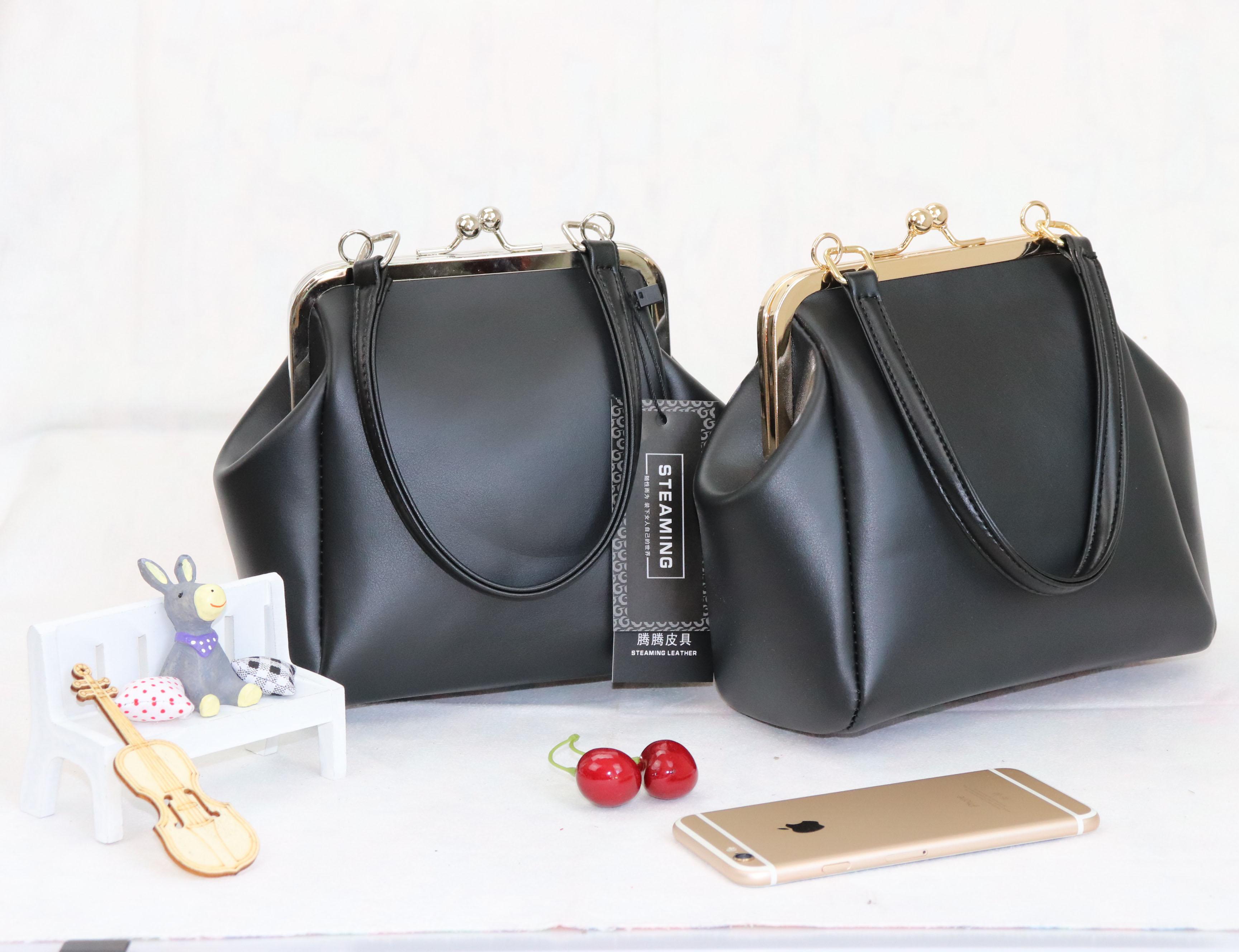 韩版时尚手提包 天天特价韩版复古夹子包2020新款包潮流手提包单肩女包斜挎小包包_推荐淘宝好看的女韩版手提包