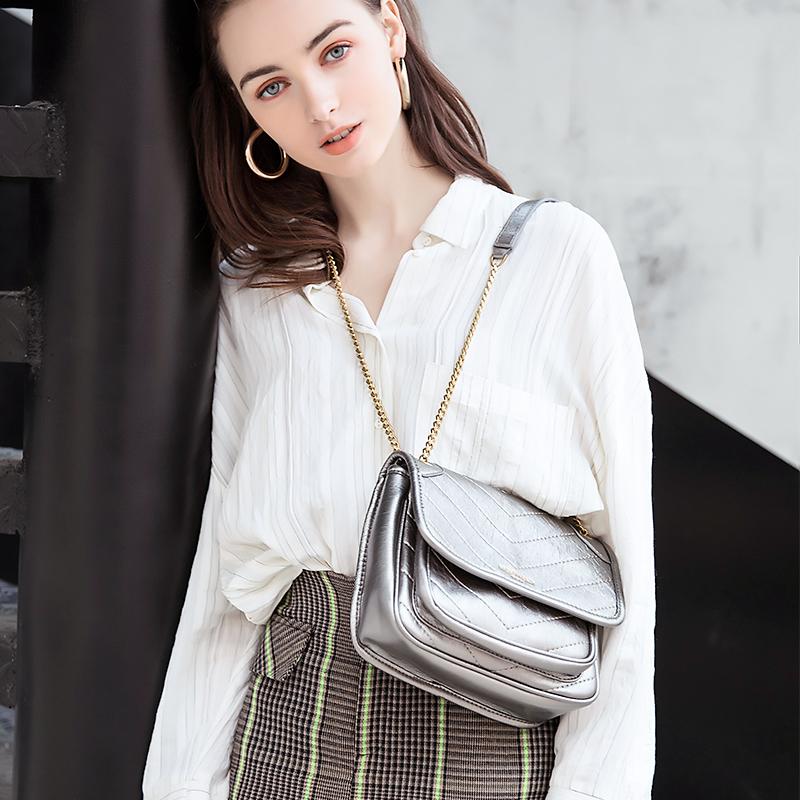 白色链条包 日本marssharing流浪包邮差包小众链条包胸包斜挎单肩女士包_推荐淘宝好看的白色链条包