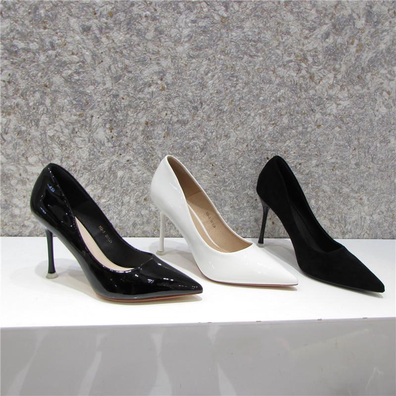 漆皮高跟单鞋 夏雪儿198-3漆皮尖头超高跟时尚百搭款单鞋女鞋工作鞋婚鞋有33码_推荐淘宝好看的女漆皮高跟单鞋