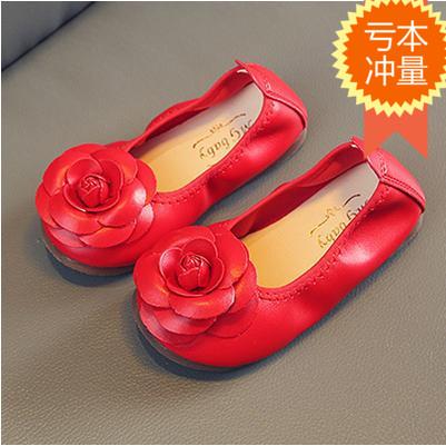 粉红色豆豆鞋 1-2-3-4-5-6-7-8岁女童软底豆豆鞋儿童花朵蛋卷鞋黑白粉红色单鞋9_推荐淘宝好看的粉红色豆豆鞋