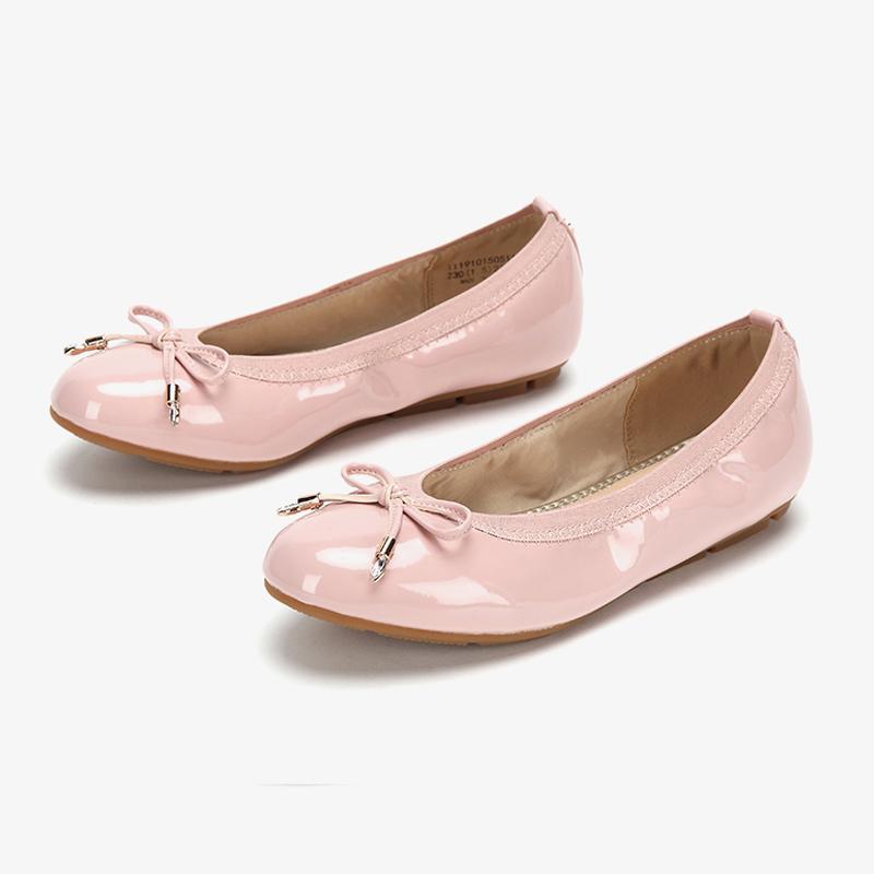 达芙妮单鞋 Daphne达芙妮旗下鞋柜系列芭蕾圆头浅口单鞋蝴蝶结蛋卷鞋瓢鞋女_推荐淘宝好看的女达芙妮单鞋