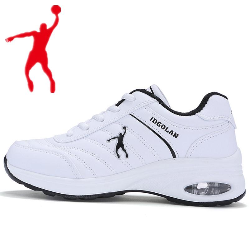 白色单鞋 正品乔丹 格兰防水女鞋运动减震气垫鞋白色休闲鞋跑步旅游单鞋361_推荐淘宝好看的白色单鞋