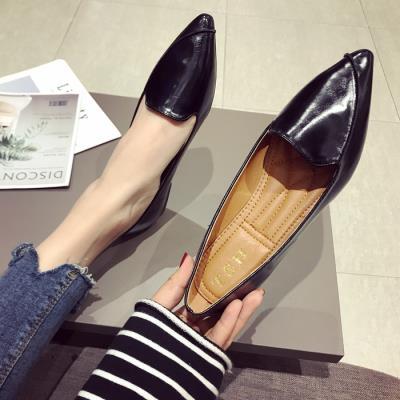 欧美版平底尖头鞋 时尚欧美风春夏季2020新款女鞋子大码浅口尖头平跟平底单鞋女黑色_推荐淘宝好看的欧美平底尖头鞋