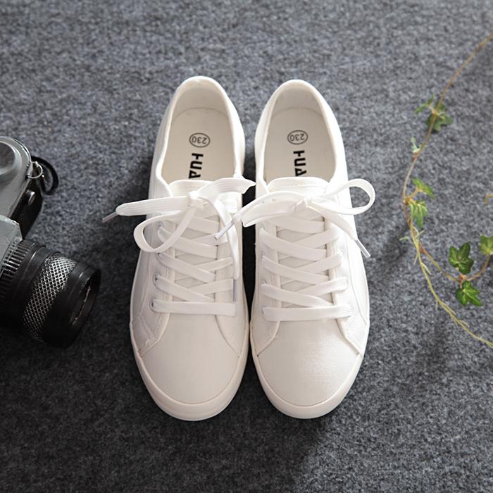 白色帆布鞋 环球小白鞋百搭女鞋学生白色帆布鞋女2021年春夏新款平底薄款布鞋_推荐淘宝好看的白色帆布鞋
