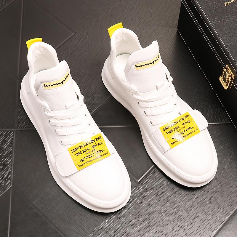 白色松糕鞋 男士休闲鞋2021夏季新款网红鞋子男潮鞋百搭白色板鞋厚底松糕鞋男_推荐淘宝好看的白色松糕鞋