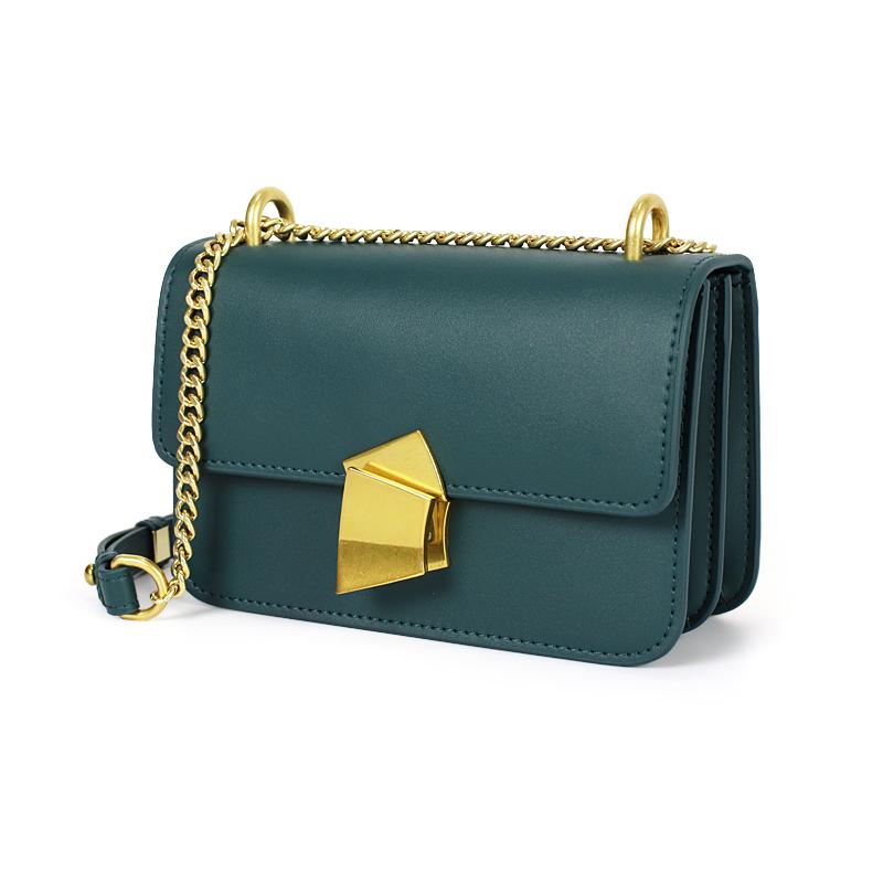女式链条包 MIQI牛皮包包单肩女包新款2020时尚明星同款斜挎包真皮链条小方包_推荐淘宝好看的女女链条包