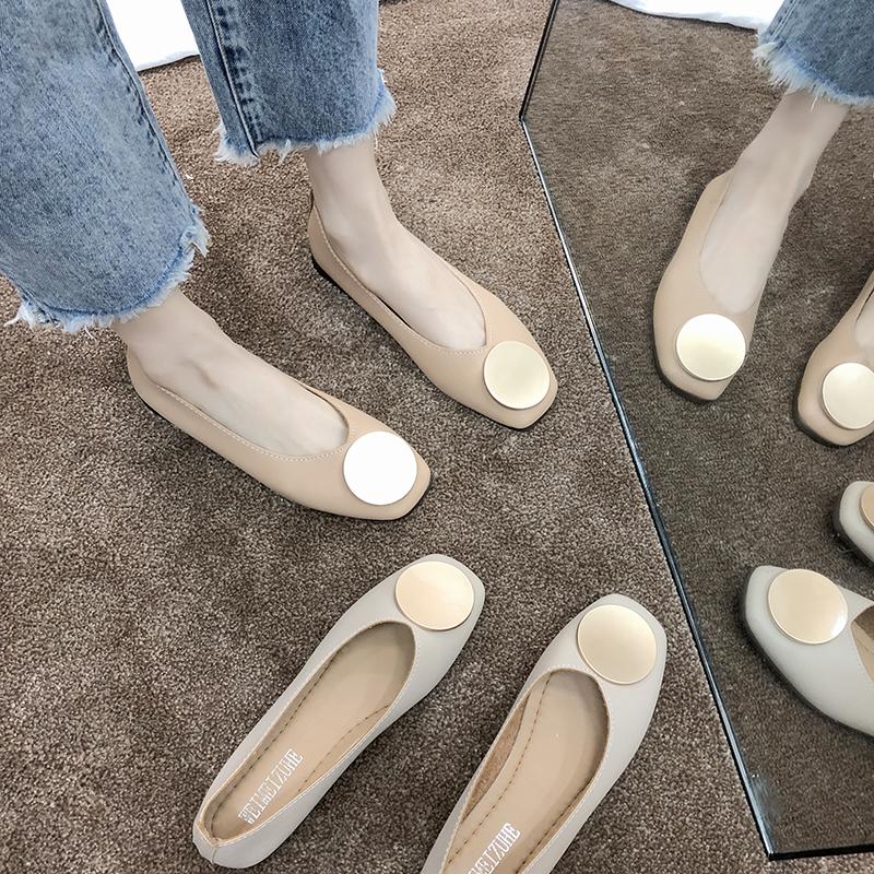 2017新款平底鞋排行 2020春季新款奶奶鞋女平底复古浅口孕妇鞋春单鞋森系女百搭妈妈鞋_推荐淘宝好看的女新款平底鞋