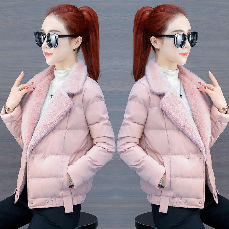 女装 P42轻薄羽绒棉服女装2019年冬季新款短款棉衣外套韩版时尚棉袄_推荐淘宝好看的女装
