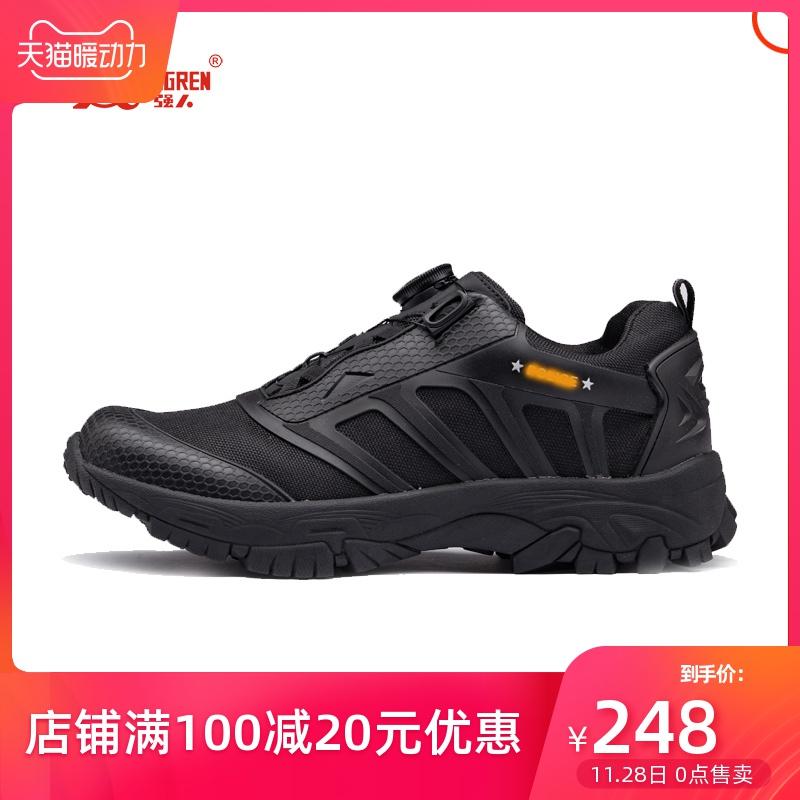登山鞋 3515新品户外运动自动扣系带男士鞋子休闲鞋登山黑色跑步防滑军鞋_推荐淘宝好看的登山鞋