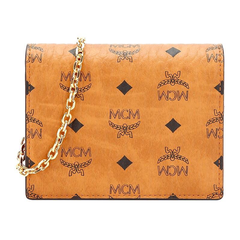 mcm链条包 MCM Visetos Original系列女款零钱包卡包链条钱包 MYLAAVI02_推荐淘宝好看的mcm链条包