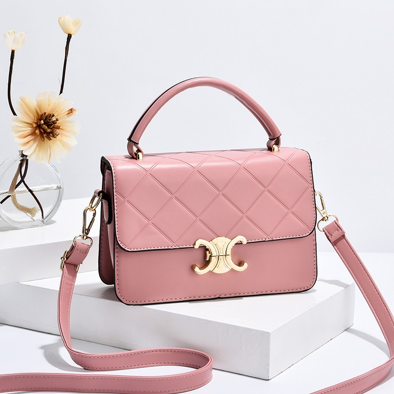 粉红色斜挎包 正品袋鼠小时尚粉红色少女心小方包真牛软皮手提单肩包仙女斜挎包_推荐淘宝好看的粉红色斜挎包