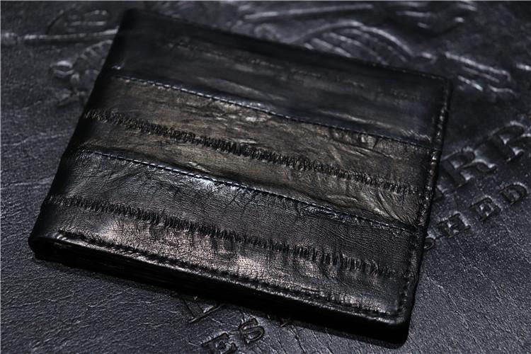 黑色钱包 Original 超值捡漏 日单轻奢精品鳗鱼皮男士黑色短款钱夹钱包特价_推荐淘宝好看的黑色钱包