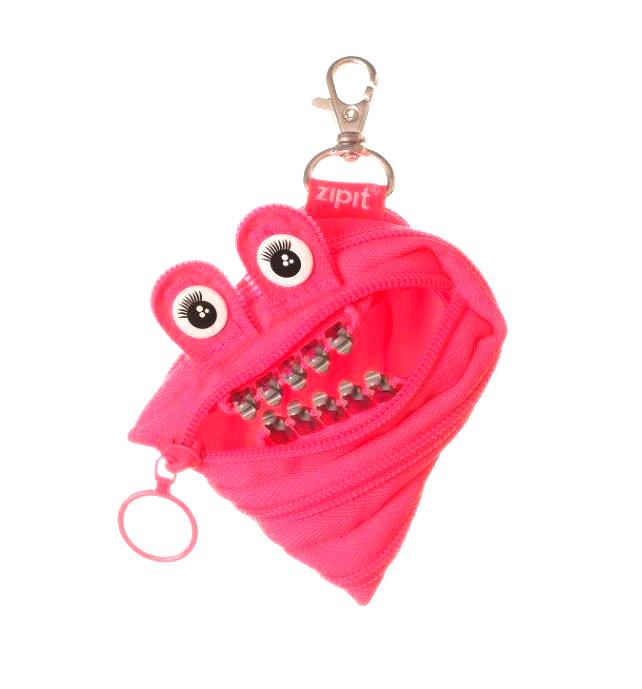 粉红色钱包 Zipit零钱包粉红彩牙 紫色银牙小号儿童节 礼物怪兽拉链袋收纳袋_推荐淘宝好看的粉红色钱包