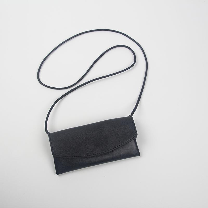 黑色迷你包 TSJS自制超mini小包包黑色一粒扣迷你包斜挎包挂脖装饰包小众设计_推荐淘宝好看的黑色迷你包