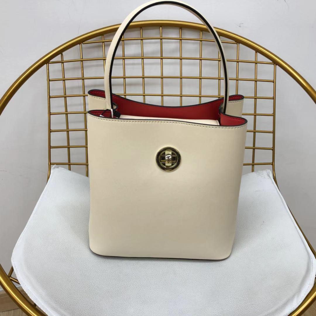 女式真皮手提包 2019新款女式真皮水桶包手提单肩  L1022_推荐淘宝好看的女真皮手提包
