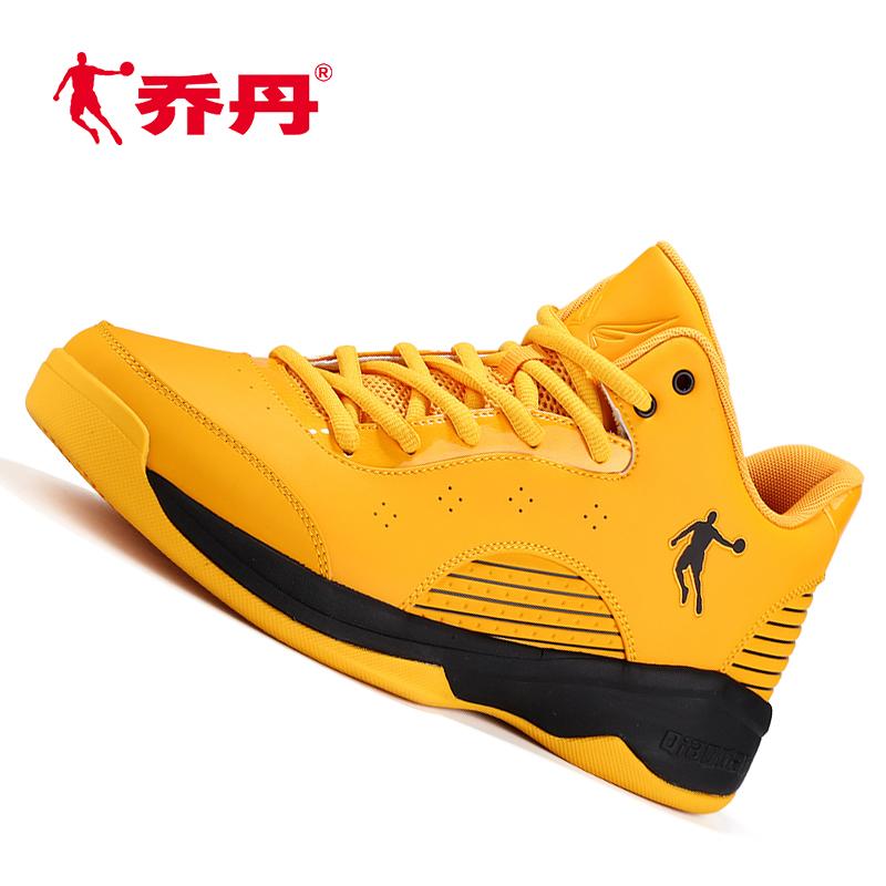 黄色运动鞋 乔丹低帮篮球鞋黄色学生专业比赛战靴减震舒适运动鞋大黄蜂系列_推荐淘宝好看的黄色运动鞋