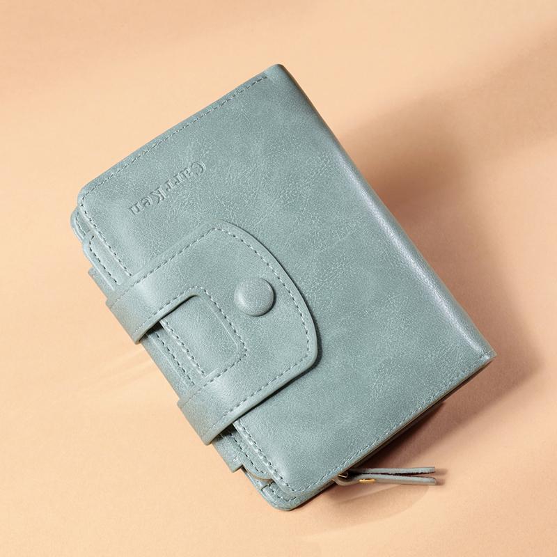 钱包 钱包女短款2020新款女士三折时尚多功能皮夹多卡位钱夹卡包一体包_推荐淘宝好看的女钱包