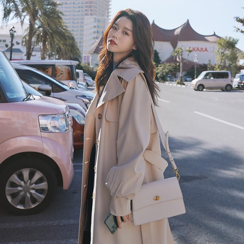 女士风衣 女士风衣2020秋季新款韩版气质大衣英伦风休闲过膝长款时尚外套女_推荐淘宝好看的女士风衣