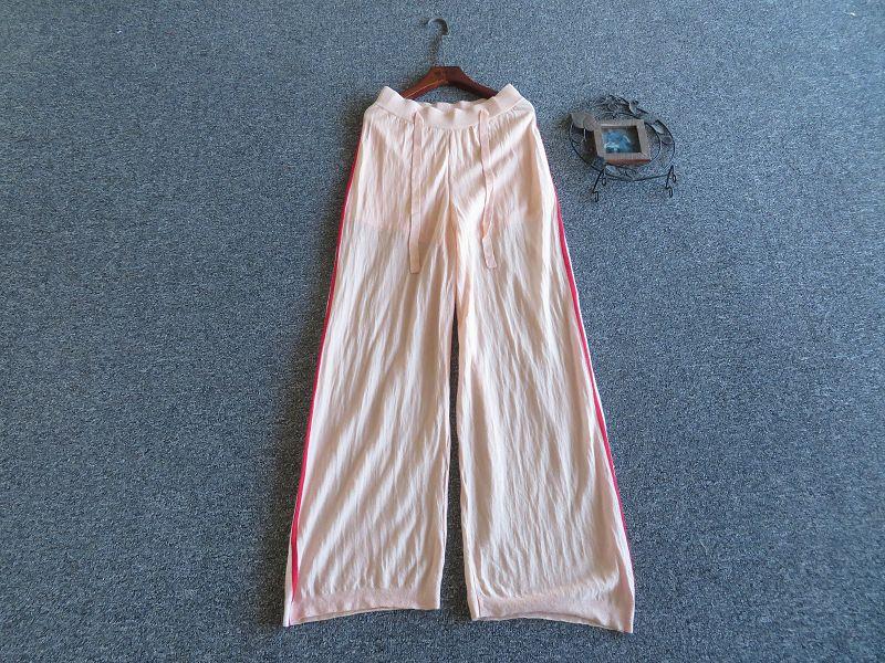 粉红色休闲裤 新款 意大利制TWIN-SET蜜桃粉红色甜美针织休闲裤_推荐淘宝好看的粉红色休闲裤
