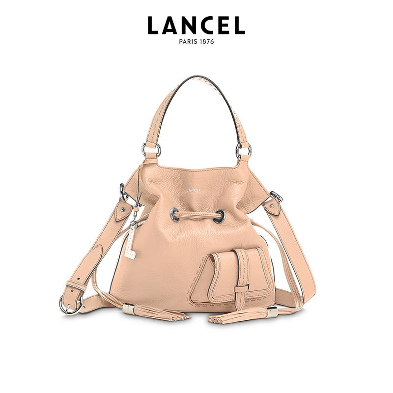 lancel水桶包 Lancel兰姿法国时尚单肩包大容量女托特包真皮水桶包斜挎包手提包_推荐淘宝好看的lancel水桶包