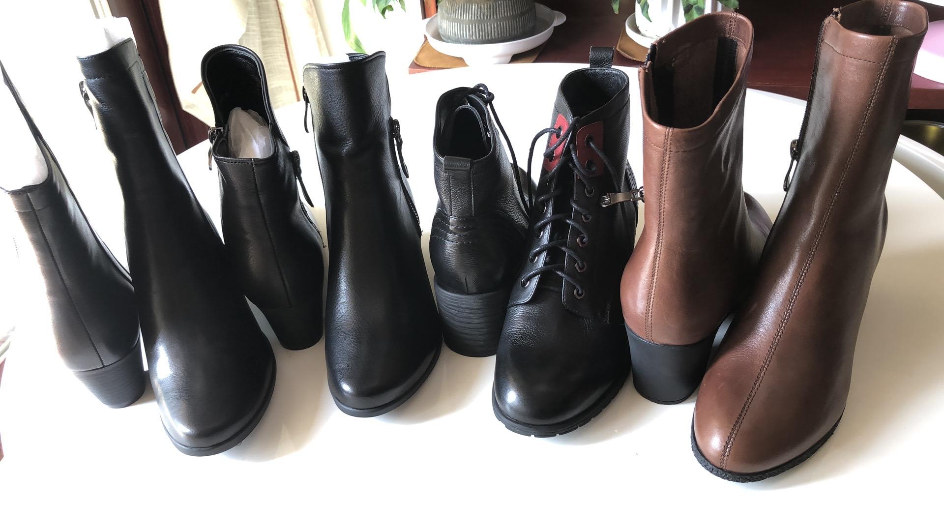 靴子 夏天也不闷光脚也能穿胖瘦宽拐同码不穿跟也不累女靴子真皮_推荐淘宝好看的女靴子