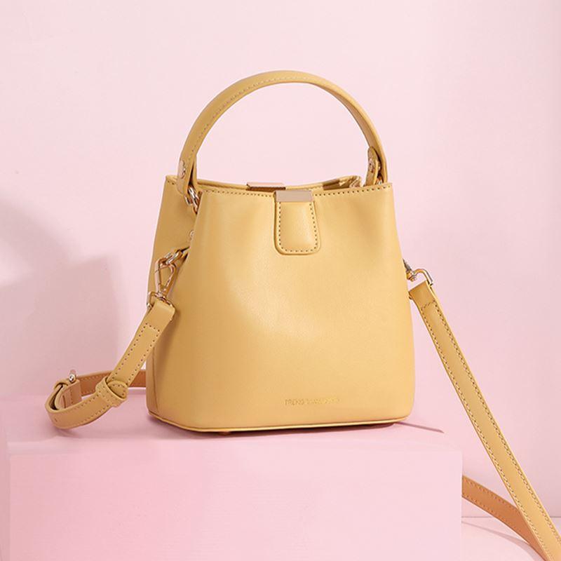 黄色水桶包 包包新款2021网红斜挎包大容量水桶包黄色简约单肩包手提时尚百搭_推荐淘宝好看的黄色水桶包