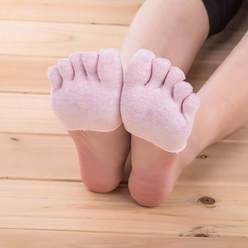 丝袜高跟鞋 五指袜女船袜J纯棉夏季短袜高跟鞋袜子脚趾袜套浅口隐形女袜欧洲_推荐淘宝好看的女袜高跟鞋