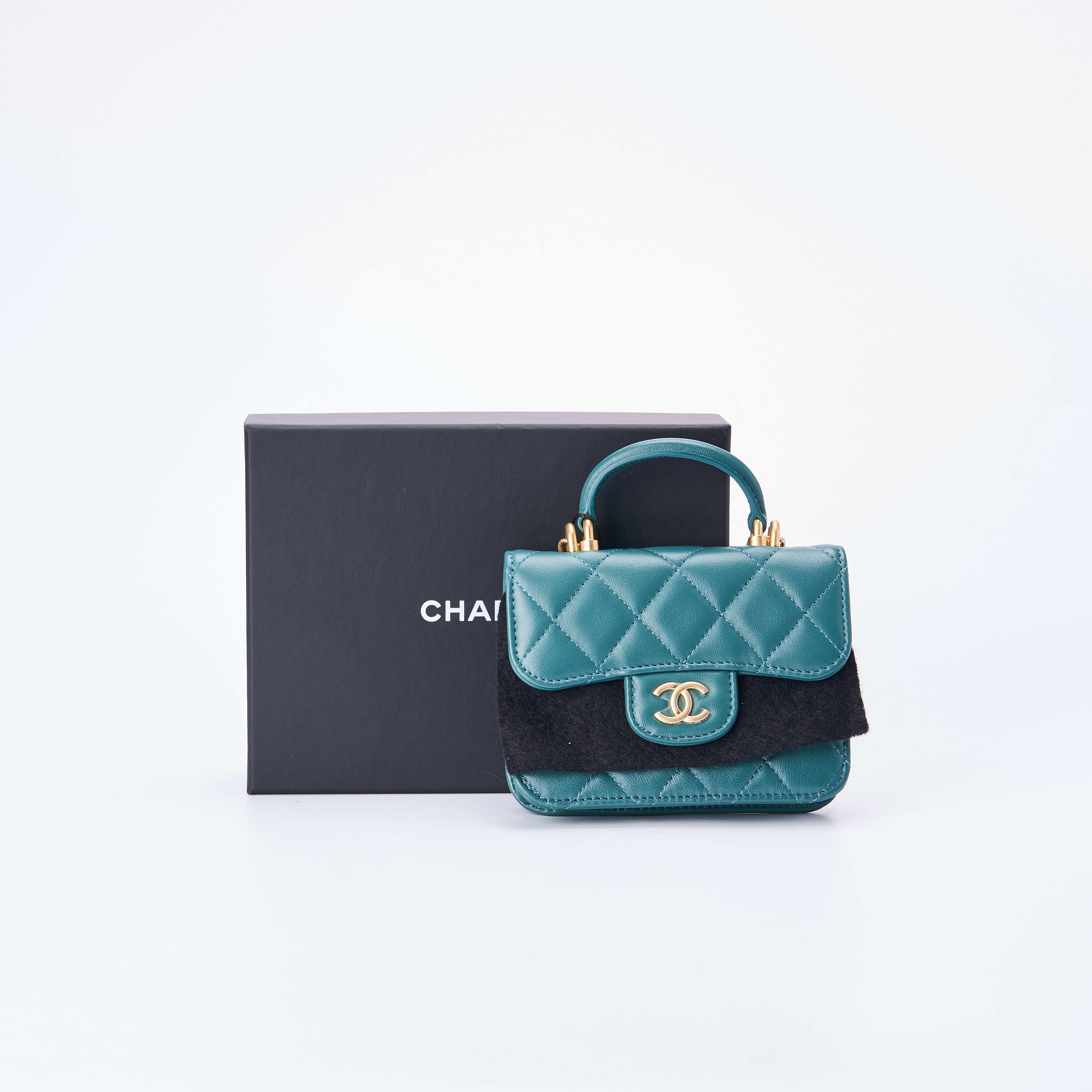 chanel链条包 临时【准新】Chanel香奈儿 柄口盖链条包 12*9 公价¥13000_推荐淘宝好看的chanel链条包