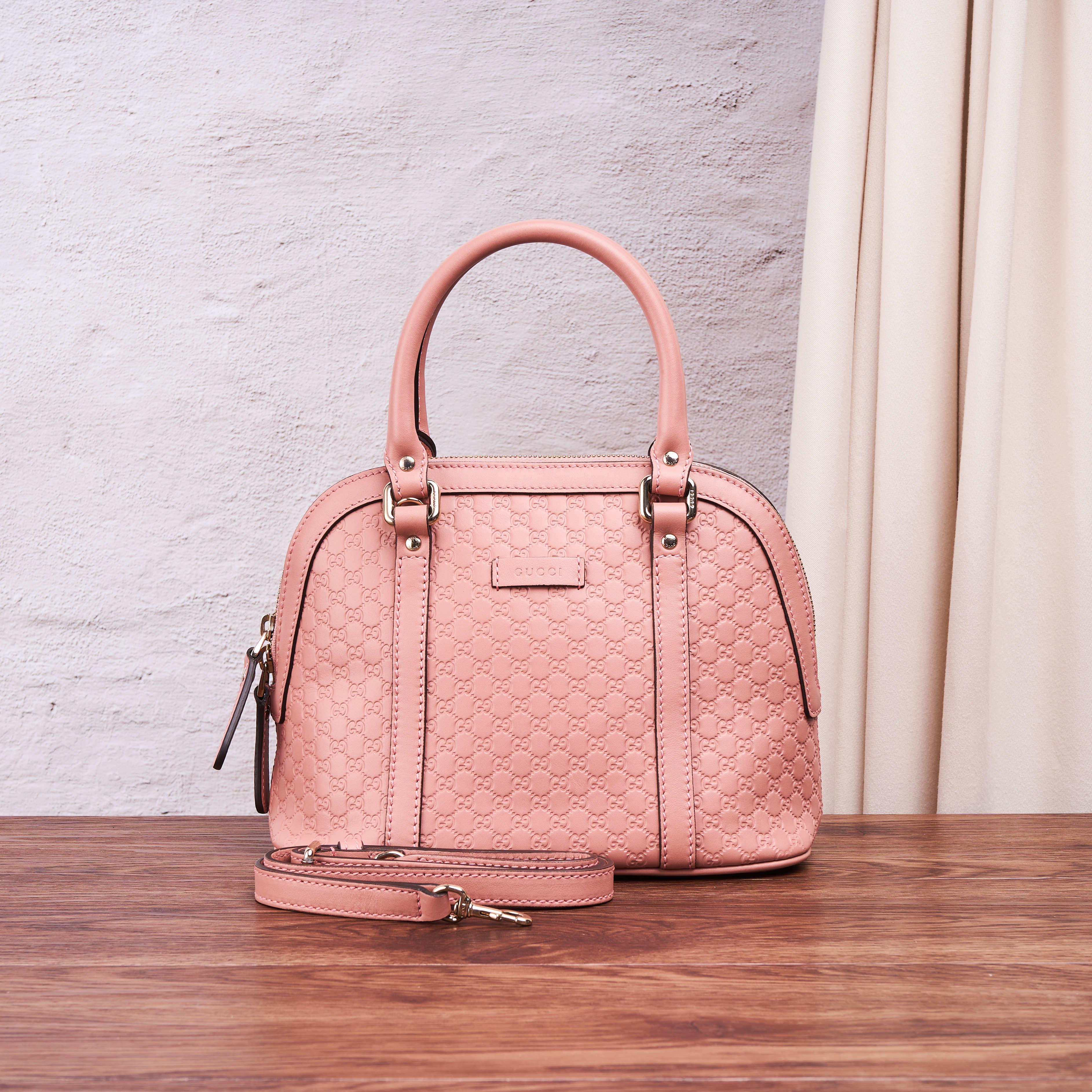 gucci贝壳包 临时【95新】Gucci粉色贝壳包 24.10.18 牛皮 公价 ¥12000_推荐淘宝好看的gucci贝壳包