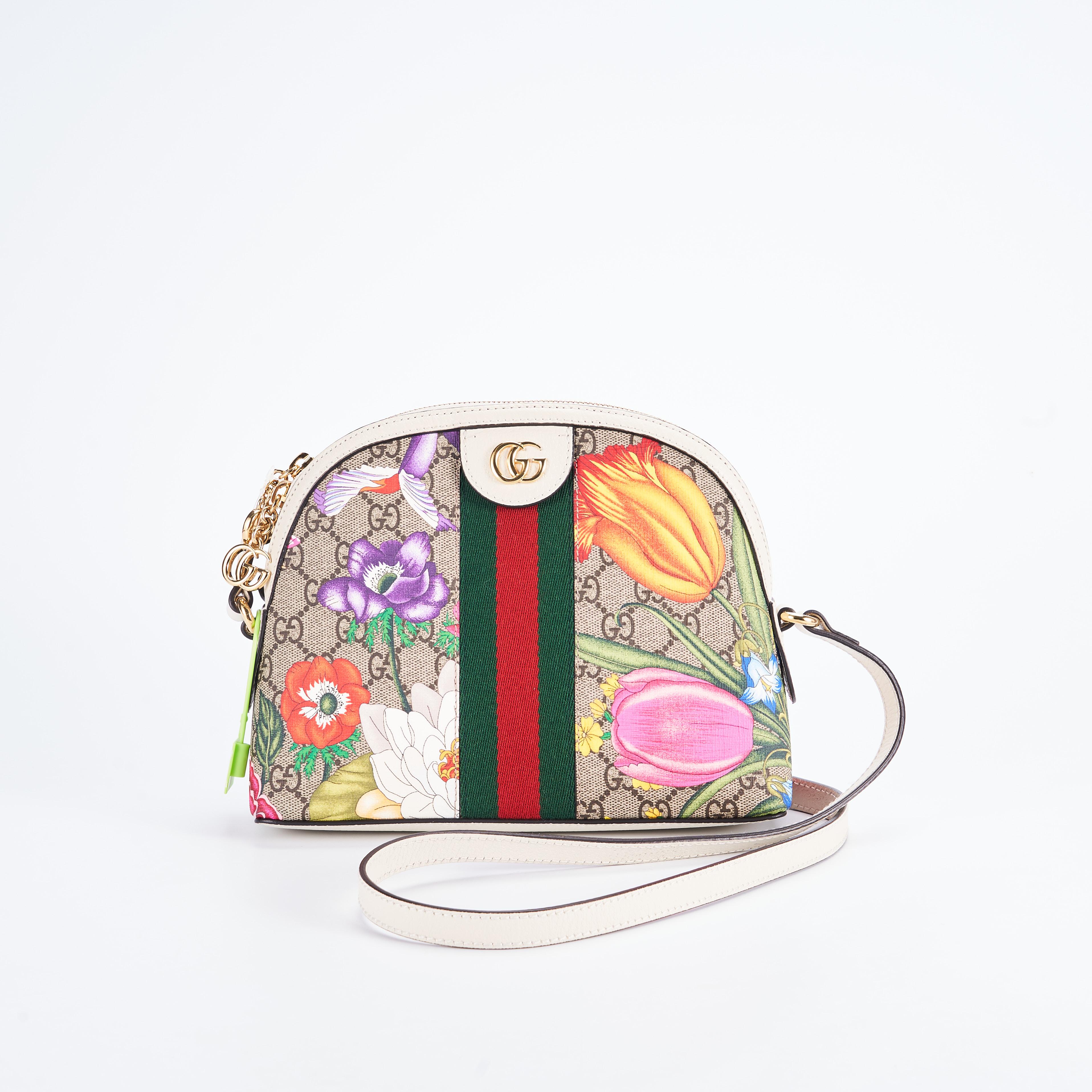 gucci贝壳包 临时【准新】Gucci 花卉贝壳包 23.8.19 公价¥14890_推荐淘宝好看的gucci贝壳包