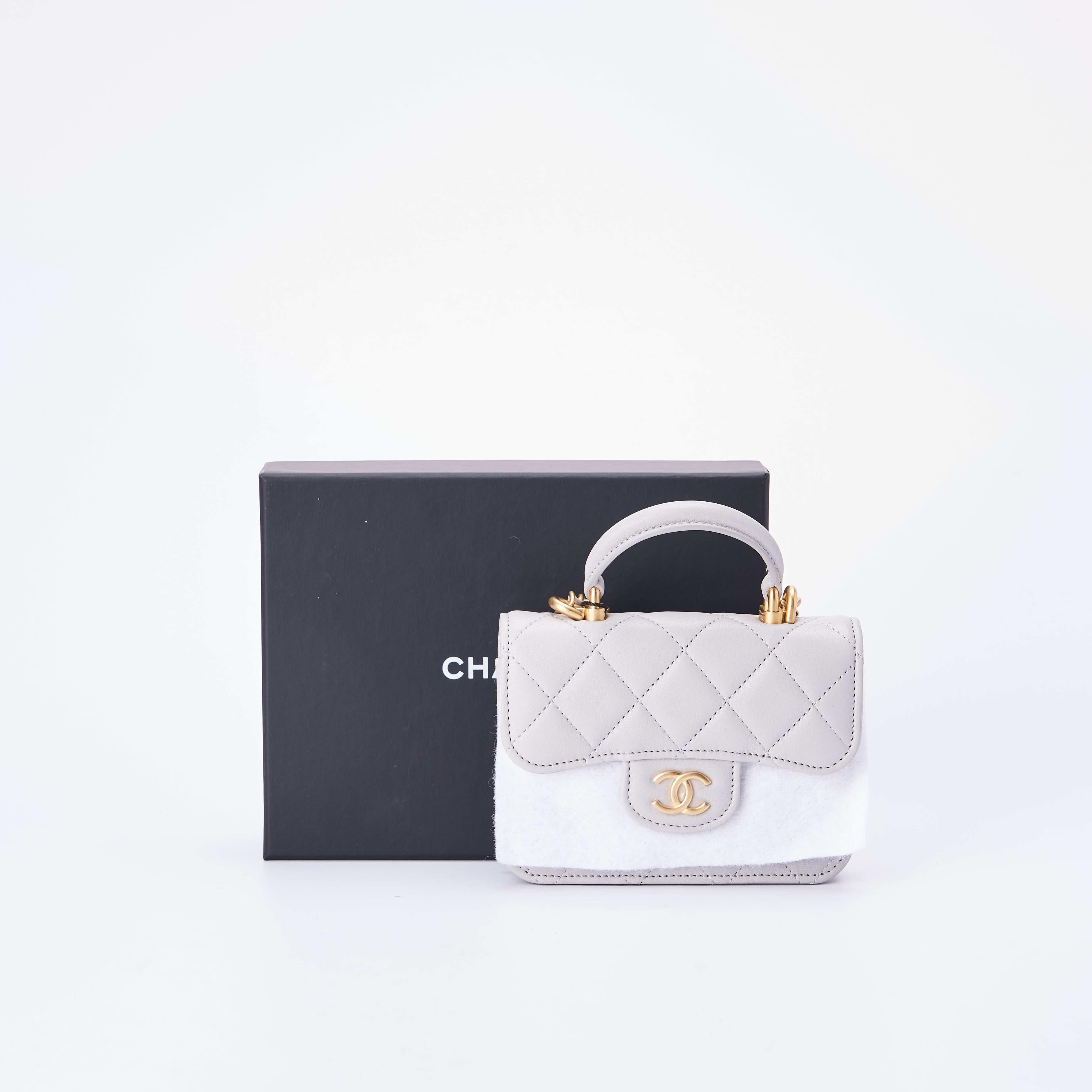 chanel链条包 临时【准新】Chanel香奈儿 手柄口盖链条包 12*9公价¥13000_推荐淘宝好看的chanel链条包