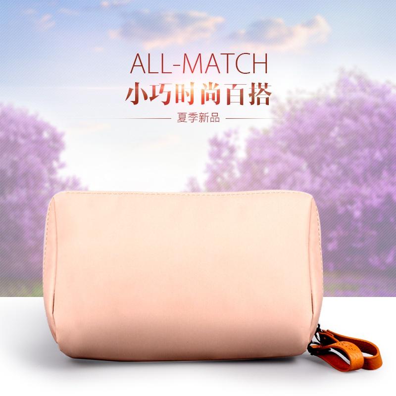 粉红色手拿包 女士手机手拿包收纳口红包便捷简约旅行化妆包纯色粉红色灰色便携_推荐淘宝好看的粉红色手拿包