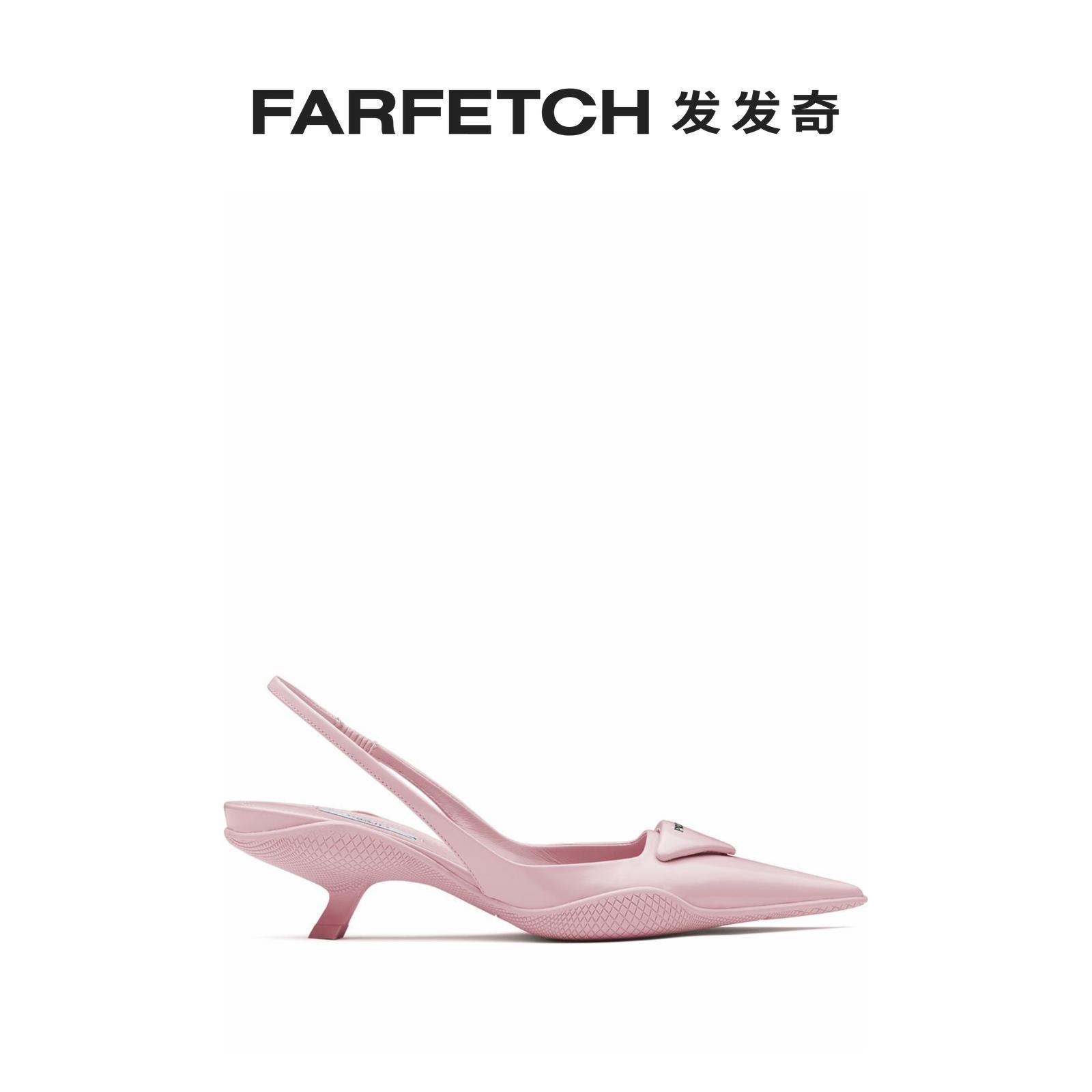 prada尖头鞋 [新品]Prada普拉达女士华达呢裹踝尖头高跟鞋FARFETCH发发奇_推荐淘宝好看的女prada尖头鞋