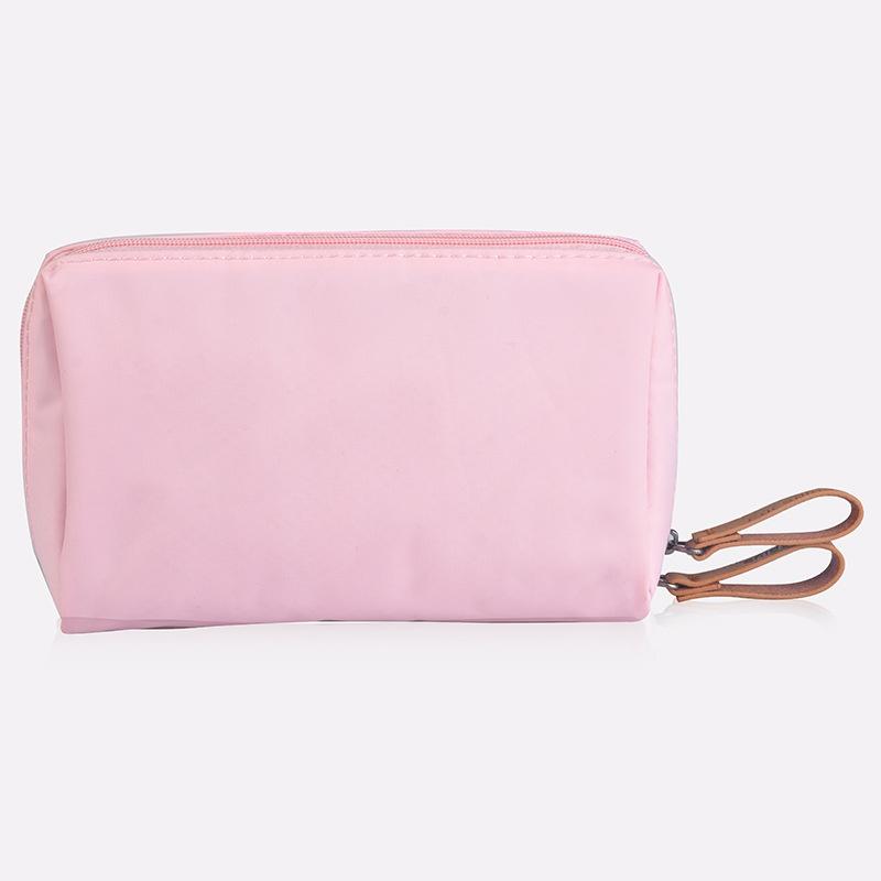 粉红色手拿包 女士手机手拿包收纳口红包便捷简约旅行化妆包纯色粉红色灰色便Y_推荐淘宝好看的粉红色手拿包