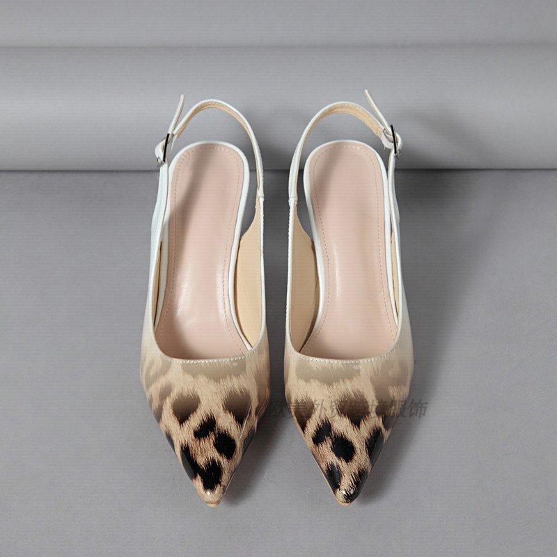 豹纹单鞋 Women's leopard-print mid-heel shoes欧美浅口女鞋单鞋豹纹_推荐淘宝好看的豹纹单鞋