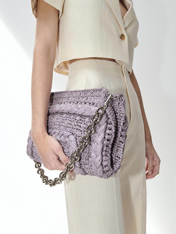 紫色链条包 西班牙单。柜子新款259!紫色编织链条单肩包手拿包女2881_推荐淘宝好看的紫色链条包