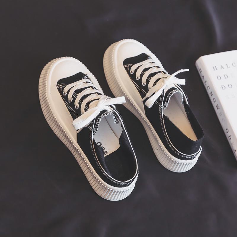 豹纹松糕鞋 夏季薄款厚底小众帆布鞋女鞋2021年新款爆款豹纹布鞋松糕大头板鞋_推荐淘宝好看的女豹纹松糕鞋