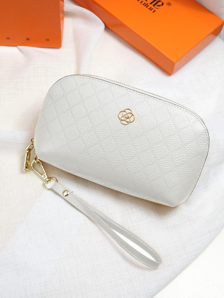 白色贝壳包 2021韩国新款白色真皮小手包女气质大容量贝壳零钱包软牛皮手拎包_推荐淘宝好看的白色贝壳包