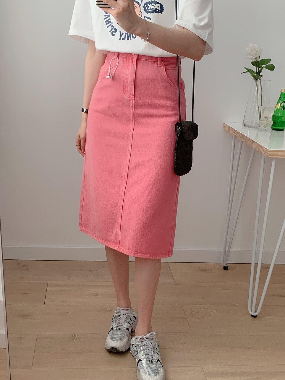 牛仔半身长裙 夏季新款韩版设计师牛仔长裙H型直筒显瘦高腰过膝半身裙女_推荐淘宝好看的牛仔半身长裙
