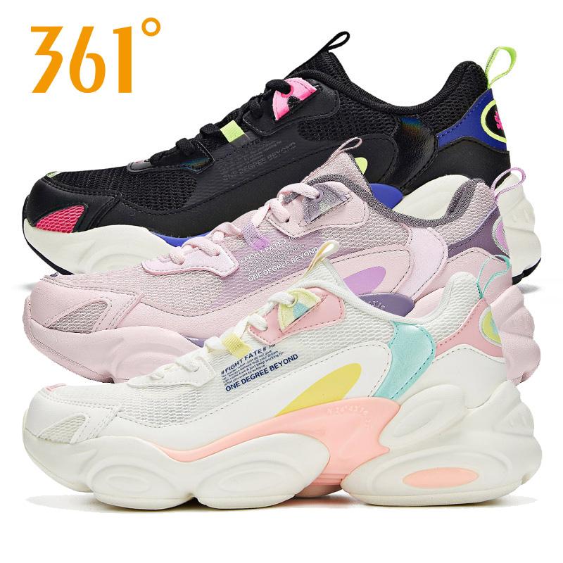 361度女士运动鞋 361女鞋运动鞋女老爹鞋361度网面跑步鞋582016798_推荐淘宝好看的女361度女运动鞋