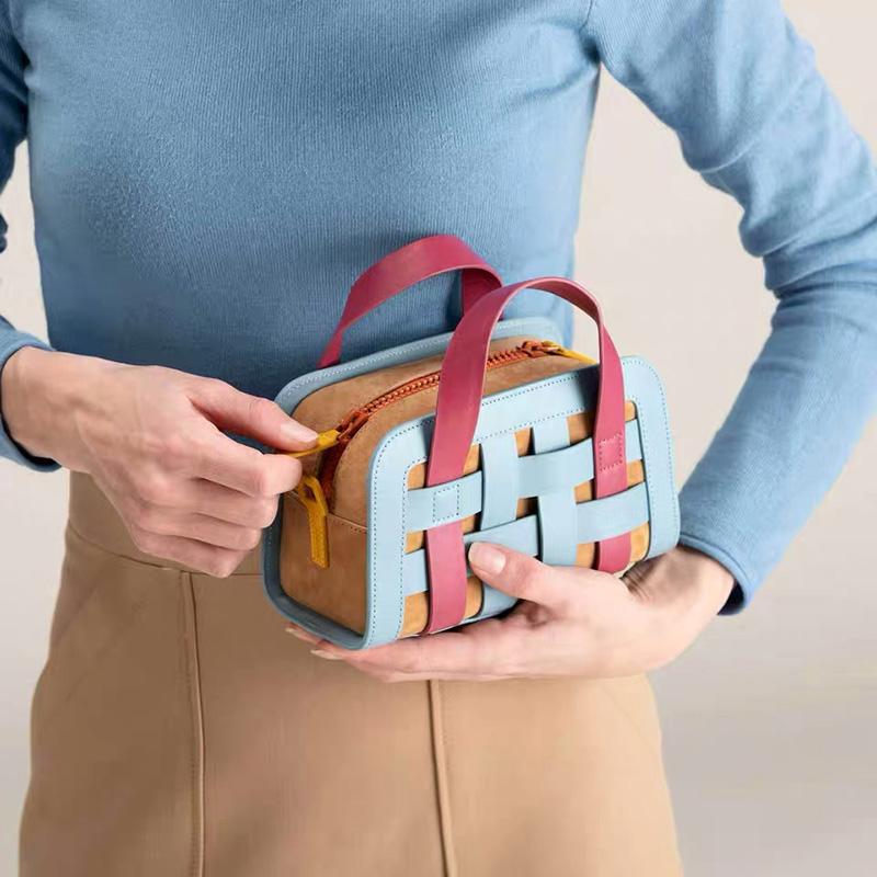 紫色糖果包 土耳其小众设计手提编织包包2020新款夏季单肩斜跨栅栏糖果色包_推荐淘宝好看的紫色糖果包